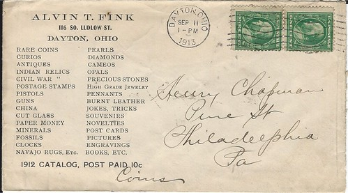 Fink envelope to Henry Chapman