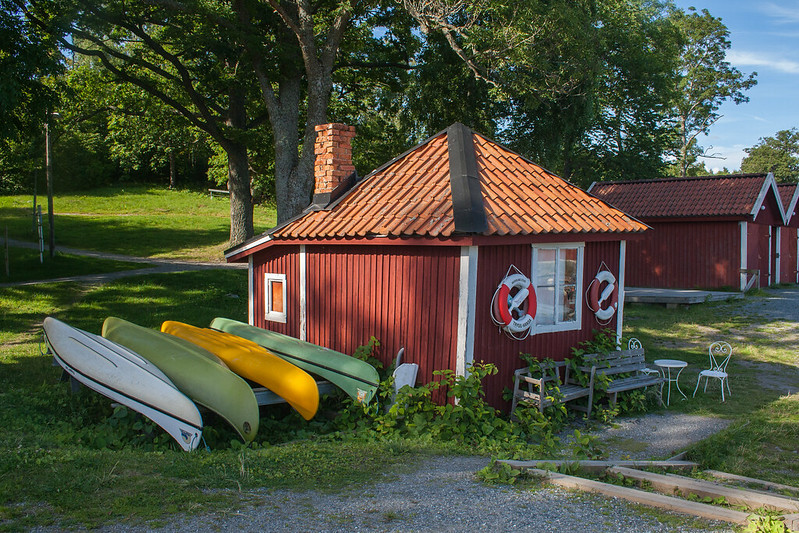 Kayak hire at Erikso, Vaxholm