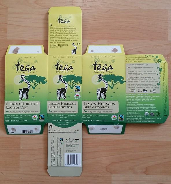 Tega Organic Tea - Lemon Hibiscus Green Rooibos 7