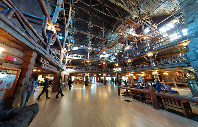 Old Faithful Lodge interior