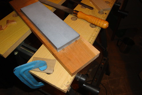 Sharpening stone table