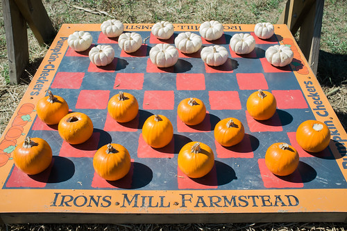 Pumpkin checkers.