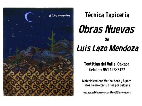 Tejiendo el web: Obras Nuevas de Luis Lazo Mendoza #worldcrafts #oaxacatoday @STyDE_GobOax @TeotitlanDValle @MiMuseoIndigena @NativeInnovate @alexvillca