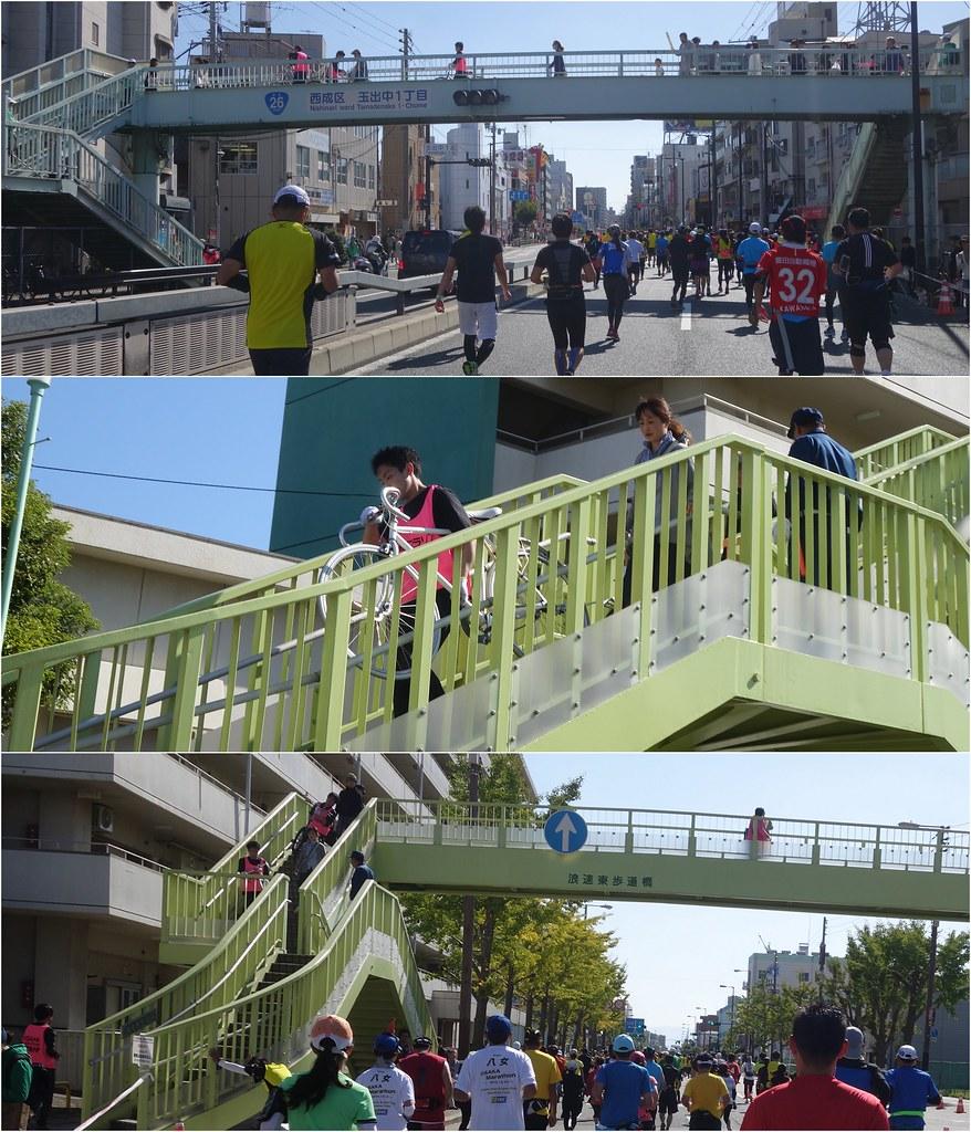 大阪馬拉松-天橋撤退