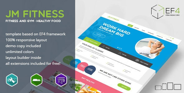 Themeforest Fitness v1.01 – gym, fitness and healthy lifestyle Joomla Theme