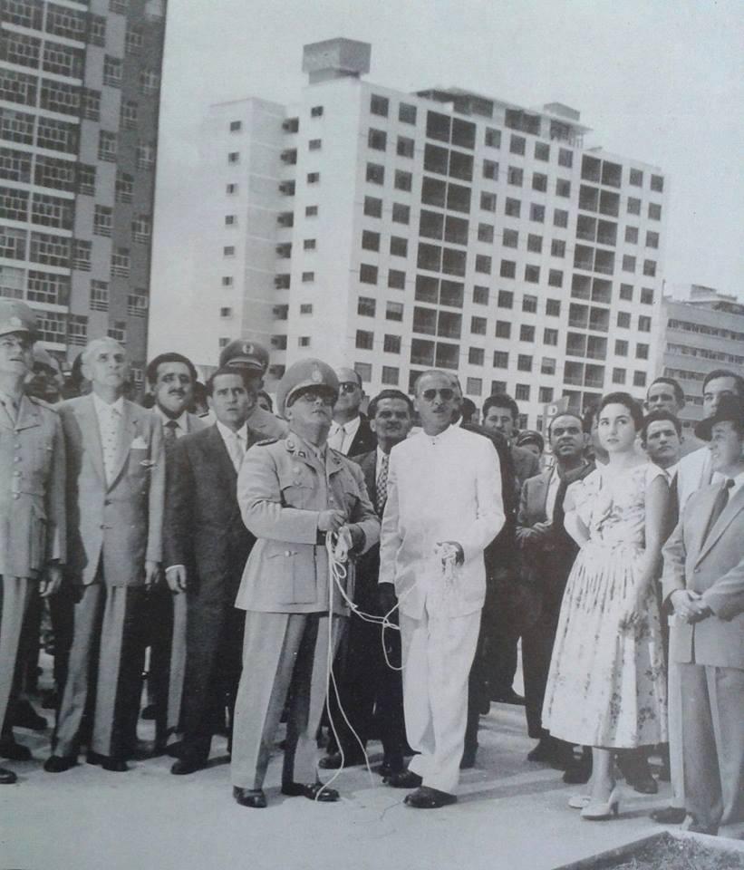 mpj inauguracion plaza andres bello 1956