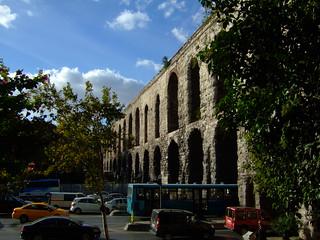 Valens aqueduct side on