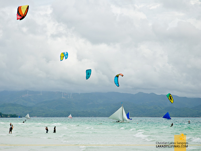 Parasailing on Boracay White Beach