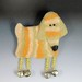 Dog Brooch wet and needle felted by bjmaiee