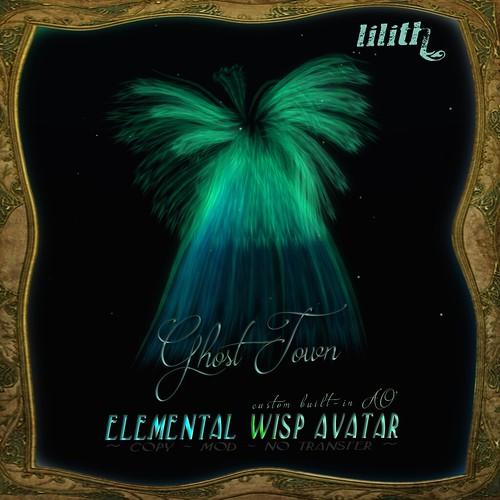 LD - ELEMENTAL WISP AVATAR -  Ghost Town Spirit 1024
