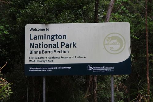 澳洲昆士蘭-Lamington NP the Binna Burra section國家公園標誌及告示牌-20141121-賴鵬智攝
