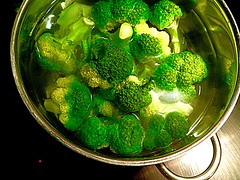 #broccoli in boiling water