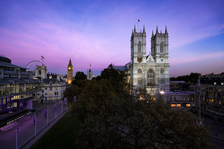 Pink Skys Above The Abbey...