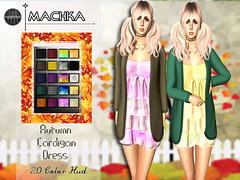 ~ϻ:Autumn Cardigan Dress 20 Color Hud