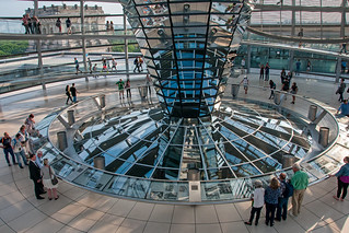 Image of Reichstag Building near Tiergarten. nikon nikkor nikon18105mmf3556 18105mmf3556 building architecture germany berlin capitalcity capital reichstag dome funnel interior inside photoshop travel city europe d300s