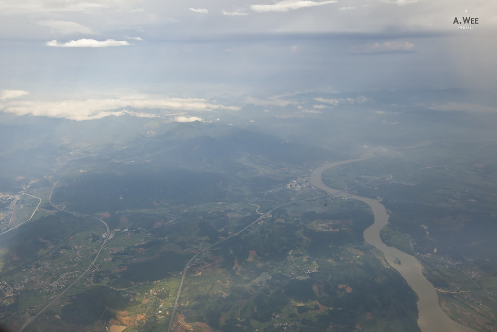 Flying past one of the tributary of Pearl River