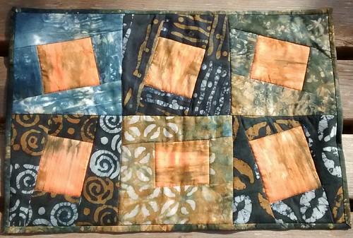 Improv pieced mini quilt