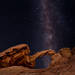 Valley of Fire Arch Rock Galaxy by ToxicTabasco