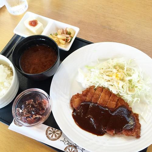 ランチはミュージアムのカフェで!! 味噌カツ珈琲付き #japan #Japanese #cafe #lunch