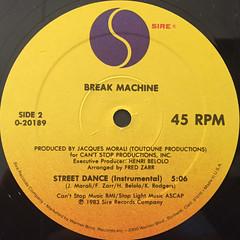 BREAK MACHINE:STREET DANCE(LABEL SIDE-B)