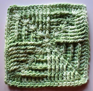Crocheted Box Fan Dishcloth