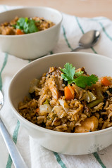 Kiam Peng (Salty/Savoury Rice in Rice Cooker)