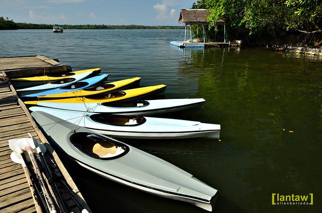 Kayaks at Lake Danao