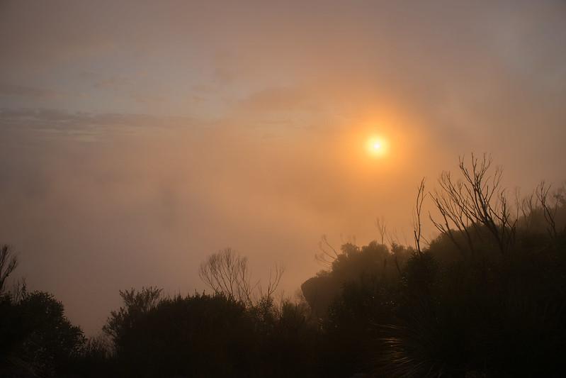 Sunrise at Mount Barney