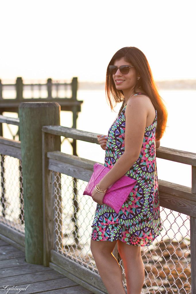 kaleidoscope print swing dress, pink clutch-8.jpg