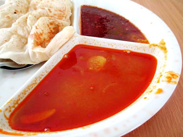 Dhal dip & sambal