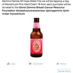 Tonight in honor of @waterfireprov Flames Of Hope & The Gloria Gemma Foundation we will be tapping Woodchuck Pink cider! 1$ from each one purchased will be donated in the fight against cancer! Stop in for dinner & a cider after or before Water Fire! #supp