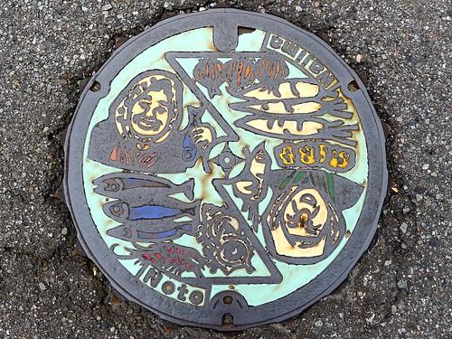 Wajima Ishikawa, manhole cover 2 (石川県輪島市のマンホール2)
