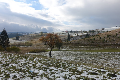 First snow in Pljevlja