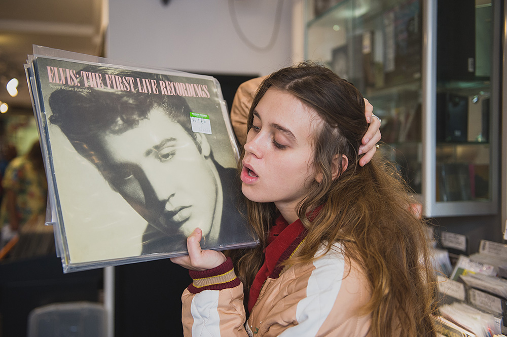 Record Shopping with Beau