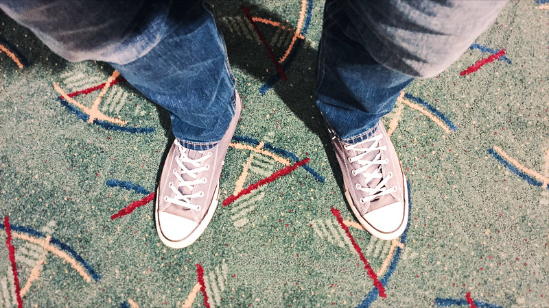 landed and in search of the old pdx carpet!
