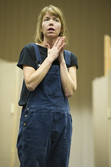 Anna Maxwell Martin in rehearsal for Macbeth. Photo by Richard Hubert Smith