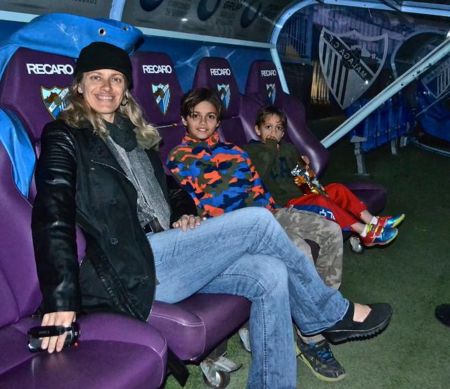 players seats - La Rosaleda Malaga FC Stadium Tour