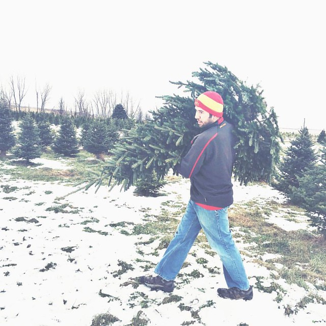 Our tree! #christmastreehunting