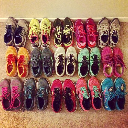 No one should have 15 pairs of running shoes in their closet. I think it's perhaps time to donate some of these...