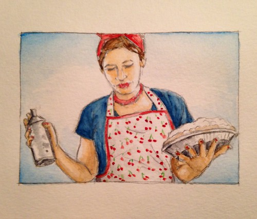 My wife Abby in watercolor.