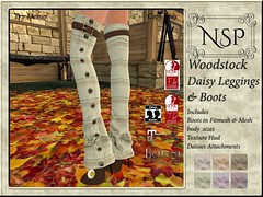 NSP Woodstock Daisy Leggings with Boot - V6