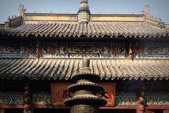 China Buddhist temple roof - Mingjiao, Hefei