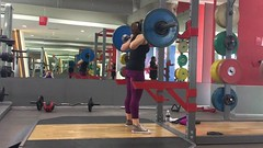 More #volume #squats today & 63kgx10x5 felt great! Kinda, sorta starting to look forward to my intensity block coming up next (with heavier weight for fewer reps) so I can see how much I can lift after all of this volume...