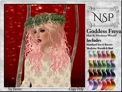 NSP Goddess Freya Hair & Mistletoe Wreath - Fantasy