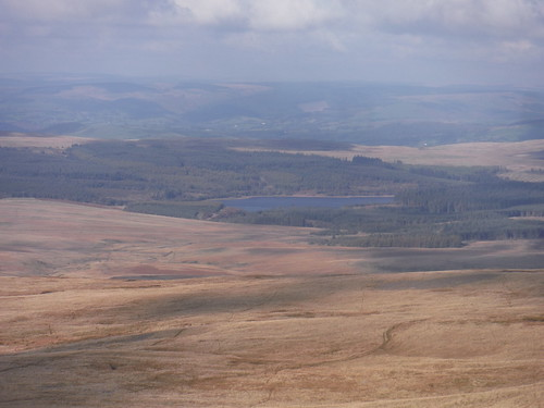 Usk Reservoir, from bottom of Fan Foel