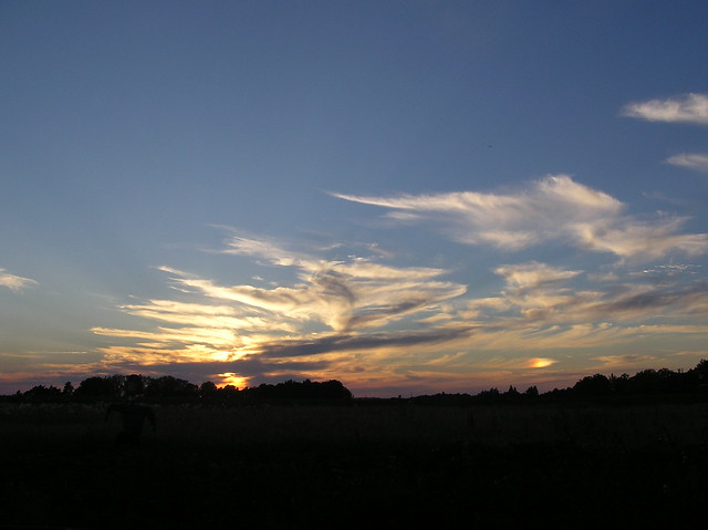 Evening skies, double suns