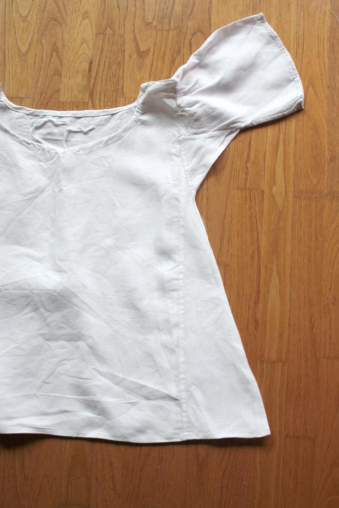 Chemise de petite fille en lin, reproduction de costume historique XVIIIème siècle