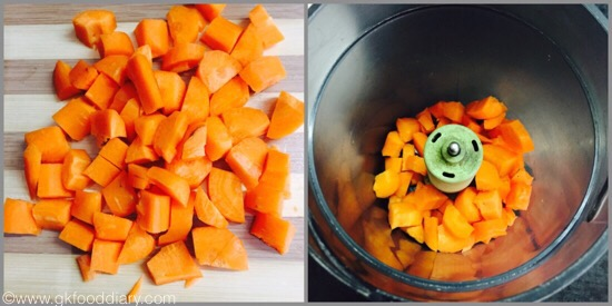 Carrot puree for babies - step 2