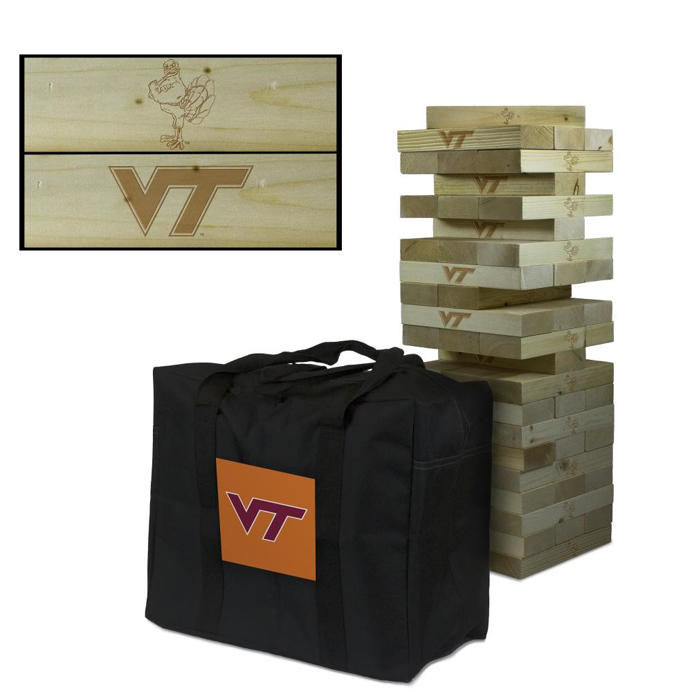 Virginia Tech Hokies Wooden Tumble Tower Game