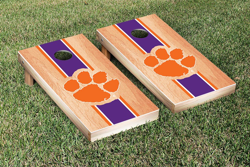 Clemson Tigers Stripe Hardcourt Board